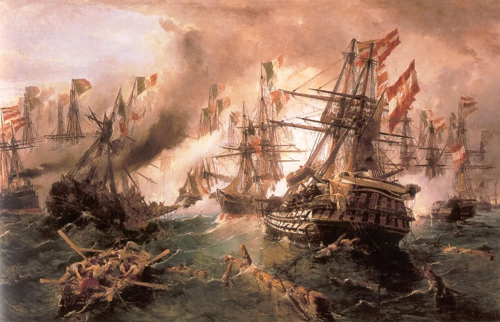 Constantine Volanakis Naval battle at Lissa