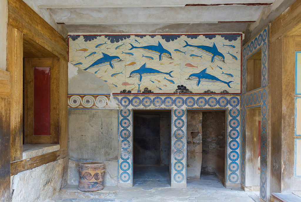Queens Megaron with dolphins Knossos Palace